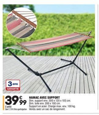 Hamac avec support offre à 39,99€