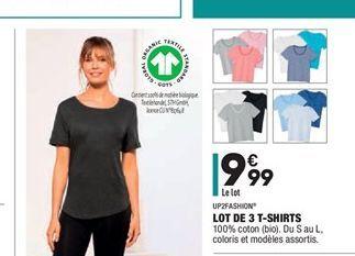 Lot de 3 T-shirt offre à 9,99€