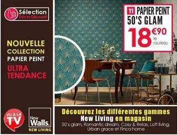 Papier peint offre à 18,9€