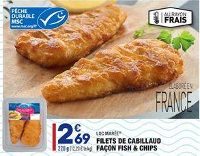 Filets de Cabillaud Façon Fish & Chips offre à 2,69€