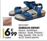 Sandales enfant offre à 6,99€