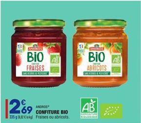 Confiture bio  offre à 2,69€