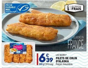 Filets de Colin D'Alaska offre à 6,39€