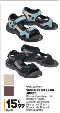Sandales trekking adulte offre à 15,99€