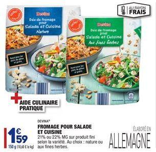 Fromage pour salade et cuisine offre à 1,59€