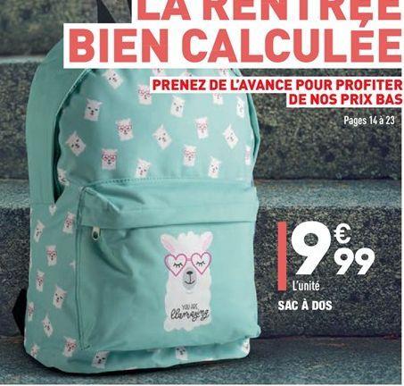 Sac à dos offre à 9,99€