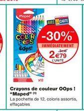 """Crayons de couleur OOps ! """"Maped""""  offre à 2,79€"""