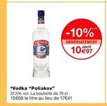 Vodka Poliakov offre à 10,97€