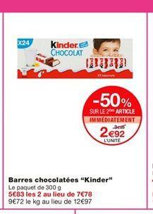 """Barres chocolatées """"Kinder""""  offre à 5,89€"""