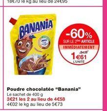 """Poudre chocolatée """"Banania""""  offre à 2,29€"""