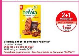 """Biscuits chocolat céréales """"BelVita""""  offre à 2,69€"""
