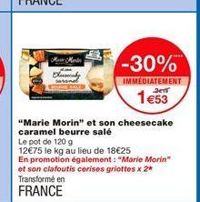 """Marie Morin"" et son cheesecake caramel beurre salé offre à 1,53€"