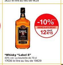Whisky Label 5 offre à 12,15€