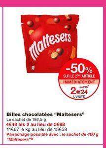 """Billes chocolatées """"Maltesers""""  offre à 2,99€"""
