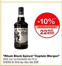 """Rhum Black Spiced """"Captain Morgan""""  offre à 22,05€"""