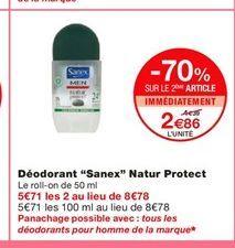 """Déodorant """"Sanex"""" Natur Protect  offre à 4,39€"""