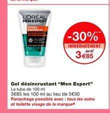 """Gel désincrustant """"Men Expert""""  offre à 3,85€"""