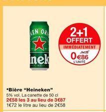 Bière Heineken offre à 1,29€