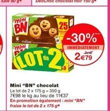 """Mini """"BN"""" chocolat  offre à 2,79€"""