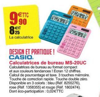 Calculatrice de bureau MS-20UC Casio offre à 9,9€