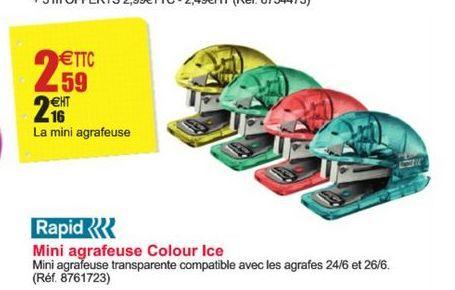 Mini agrafeuse Colour Ice offre à 2,59€