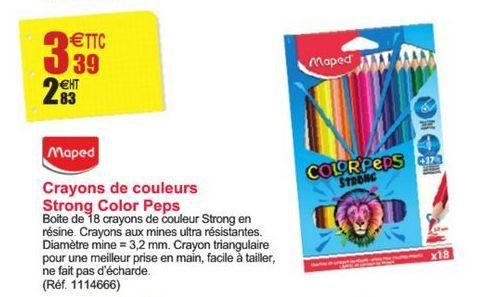 Crayons de couleurs Strong Color Peps offre à 3,39€