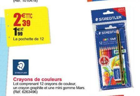 Crayons de couleurs Staedtler offre à 2,39€