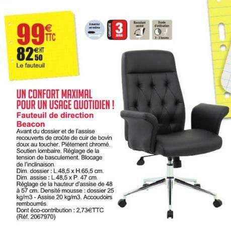 Fauteuil de direction Beacon offre à 99€