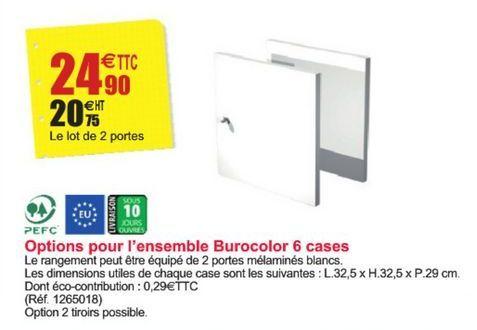 Options pour l'ensemble Burocolor 6 cases offre à 24,9€