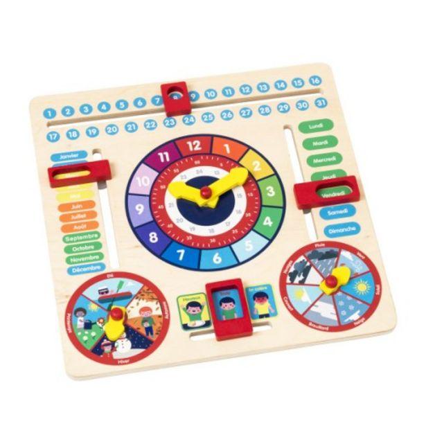 Horloge calendrier en bois offre à 19,99€