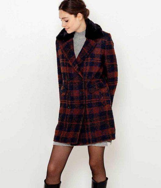 Manteau caban carreaux femme offre à 71,99€