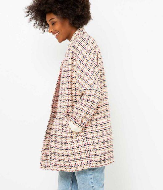 Veste longue femme tweed offre à 48,99€