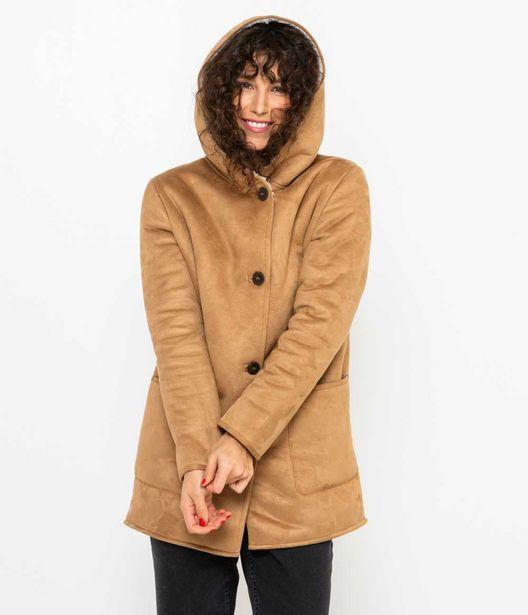 Manteau femme esprit peau lainée offre à 55,99€