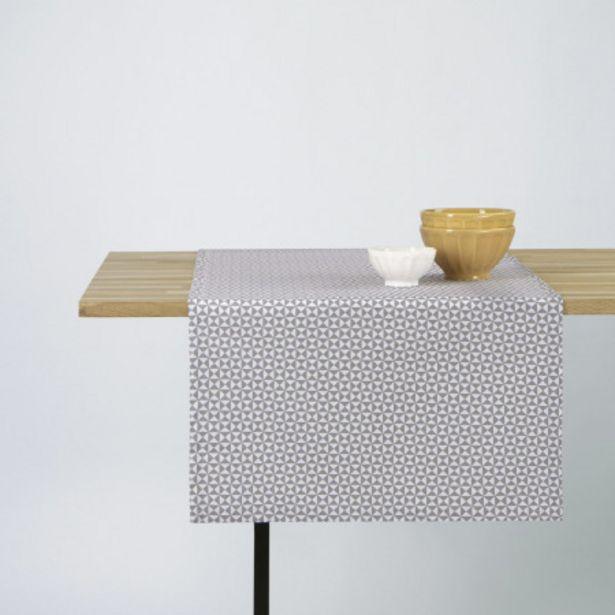 CHEMIN DE TABLE EN COTON À IMPRIMÉ TRIANGLES offre à 9,99€