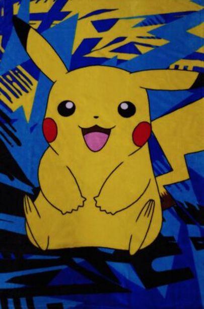 Plaid - Pokémon - Pikachu Coral - 100 x 150 cm   offre à 19,99€
