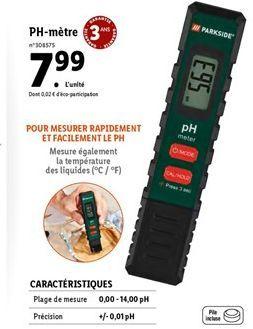 PH- Metre offre à 7,99€
