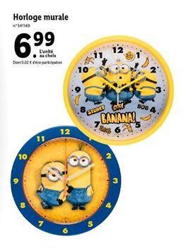 Horloge murale offre à 6,99€