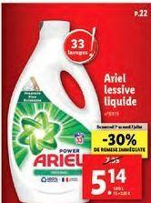 Lessive liquide Ariel offre à 4,14€