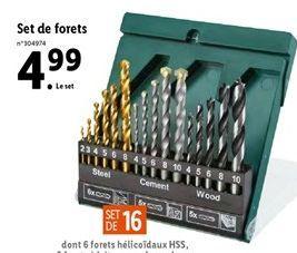 Set de forets offre à 4,99€