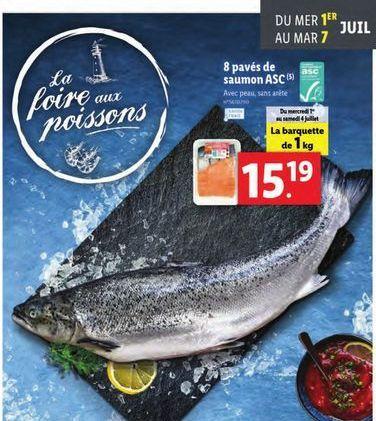 8 paves de saumon asc offre à
