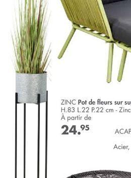 ZINC pot de fleurs  offre à 24,95€