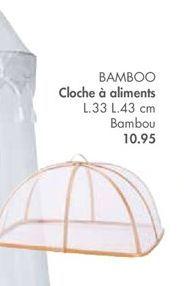 BAMBOO cloche a aliments offre à 10,95€