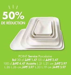POINT Service porcelaine offre à