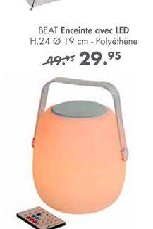 BEAT enceintes avec LED offre à 29,95€