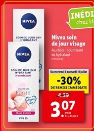 Nivea soin de jour visage  offre à 3,07€
