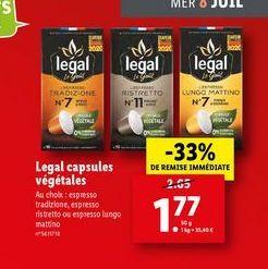 Café expresso legal offre à 1,77€