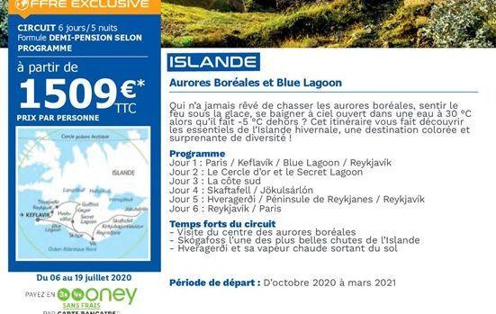 Islande offre à 1509€