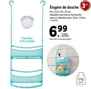 Étagère de douche offre à 6,99€