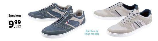 Sneakers offre à 9,99€