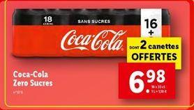 Coca-cola zero sucres offre à 6,98€